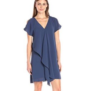 Adrianna Papell Cold Shoulder Drape Shift Dress
